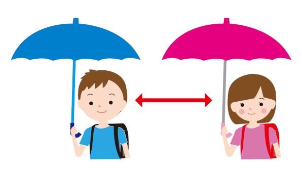 傘ソーシャルディスタンス
